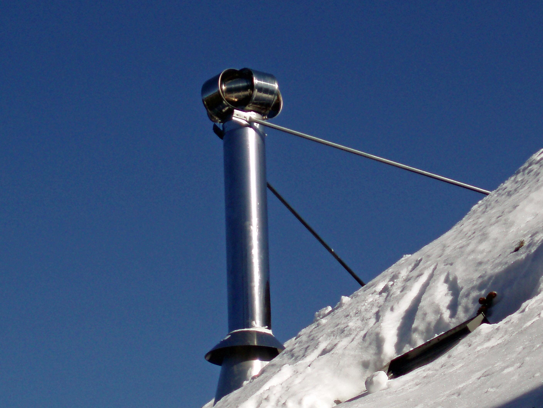 Dura vent type b gas vertical high wind rain cap